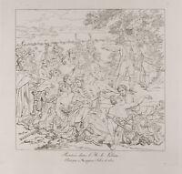 Gravur 1876: Schulanfang IN L' Isle Of Lobau. Schlacht D'Essling. Napoleon