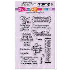 Stampendous Clear Stamps - Friendship Assortment - Friends, Thanks