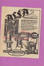 BERLIN, Werbung 1934, ALFA-Laval-Separator GmbH Milchkühler Waschmaschinen