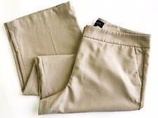 Talbots Tan Heritage Pants Womens Size 16 Plus Straight Leg Flat Front EUC