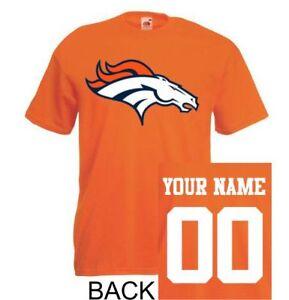 Denver Broncos shirt tee jersey custom name number kid men lady