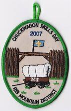 BOY SCOUT PATCH - SAMOSET COUNCIL - RIB MT. DIST - 2007 CHUCKWAGON - 24TH ANNUAL