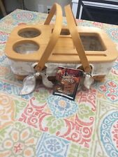 Longaberger Small Gathering Basket Set - Roadtrip Lid and 5 Way Protector Combo