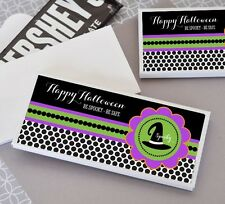 24 Personalized Spooky Halloween Candy Bar Wrappers Party Favors