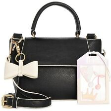 IN AWE OF YOU BY AWESOMENESS Tv Bow Crossbody Bag with Sticker Set, Black-NWT