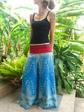 Boho Hippie Blue Cotton Flare Elephant Trousers Yoga Festival Travel Summer
