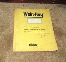 Wain Roy Jaw Manual Ford 555 Service Manual Parts Book