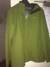 New Jack Wolfskin Men/Woman Seven Peaks~ Jacket Green Rain Coat Size L /Uk 40/42