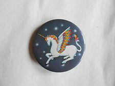 Cool Vintage Rainbow Winged Unicorn or Pegasus Mythcial Creature Pinback