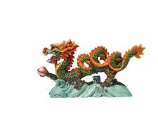 Jade Color Chinese Feng Shui Dragon Figurine Statue for Luck & Success 6 Long
