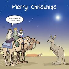 Merry Christmas Card with Three Wise Men -Funny Christmas Card -Xmas Card -Lost