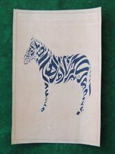Fine islamic ottoman calligraphy painting manuscript quran khate zebra figure