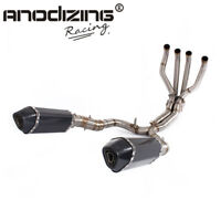 ANODIZING Full Exhaust System With Muffler Pipes For KAWASAKI Z1000 2010-2019