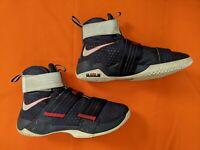 Nike Lebron Soldier Ten Size 11 Basketball Shoe 844378-416  Navy Blue  (lot#121)