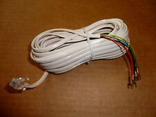 25ft. Telephone Modular Plug Extension Cord w/4-Wire Spade Lugs Ivory 25' 25Foot