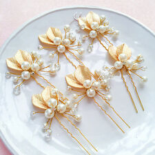 Fashion Women Wedding Pearls Crystal Flower Hairpin Hair Clip Hair Accessories