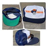 Vtg Virginia Cavaliers Snapback Truckers Hat Mesh Cap Spellout Embroidered