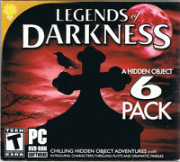 Legends of Darkness - 6 Pack Hidden Object Collection (PC, 2013, OnHand)