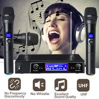 Pro Wireless Dual Handheld Microphone 2 Channel UHF Mic KTV System Karaoke US