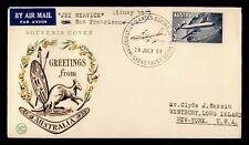 New ListingDr Who 1959 Australia Sydney To Usa Qantas First Flight Air Mail C204462
