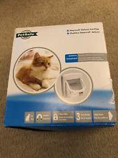 PetSafe 400EF Magnetic 4-Way Locking Cat Flap, White