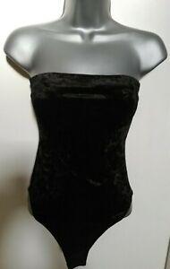 Bodysuit 8 Black Sleeveless Strapless Design Lightweight Stretch Smart Casual
