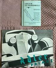 ADLER Primus Prospekt ORIGINAL! 1934