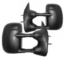 NEW Manual Folding Black Towing Mirrors PAIR / FOR 03-14 FORD ECONOLINE 2031854
