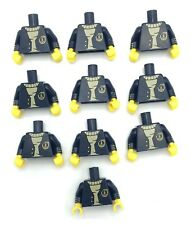 LEGO 10 NEW DARK BLUE SEA CAPTAIN BOAT SHIP MINIFIGURE TORSOS PIECES