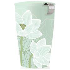 Tea Forté KATI Lotus Single Cup Loose Leaf Tea Brewing System, Insulated Cera...