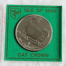 Isla De Man 1998 Diamante Acabado Gato Corona Caja cilíndrica
