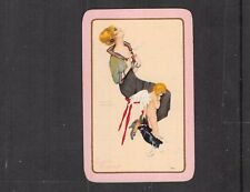 "Single Vintage Playing Card "" Cupid's Triumph  "" Pretty Girl by Raphael Kirchner"