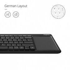 Rapoo k2600 2.4g wireless keyboard with touchpad (esp layout-QWERTZ)