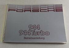 Mode D 'em Ploi / Manuel Porsche 944/944 Turbo Modèle Année 1989