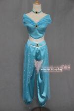 Aladdin Jasmine Princess Halloween Cosplay Costume for Adult Custom Made Costume