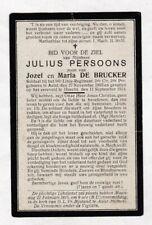 SOLDAAT 9e Linie J.PERSOONS °AALST  Gesneuveld HAACHT 1914 (DE BRUCKER) MIJLBEKE
