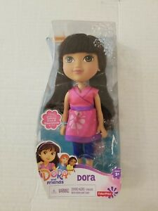 """Nick Dora Doll 8"""" With Charm Removable Clothes Fisher Price Damaged packaging"""