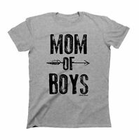 Ladies T-Shirt MOM Of Boys Fashion Gift For MOTHER Mum by Buzz Shirts