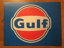Tin Sign Vintage Gulf Gas Station Motor Oil