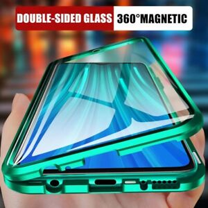 360° Magnetic Tempered Glass Case For iPhone 13 12 Pro Max 11 XS XR 7 8 Plus SE