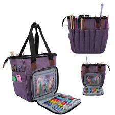 Knitting Yarn Storage Bag Crochet Hooks Sewing Tool Tote Organizer Holder Bag Us