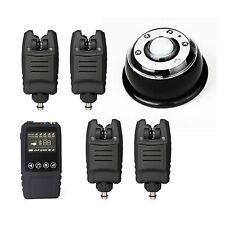 Waterproof Wireless Carp Fishing Bite Alarm Set 4 Bite Alarms +1 Receiver+1 Lamp