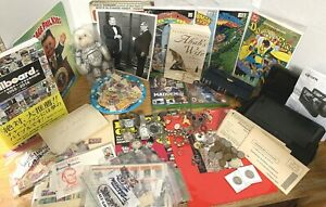 AMAZING JUNK DRAWER LOT Jewelry Gold Silver Stamps Books MUCH MORE See Below J20