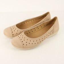 Hotter Livvy EXF Ballet Flats Womens US 10 EU 42 Light Taupe Nude Leather Shoes