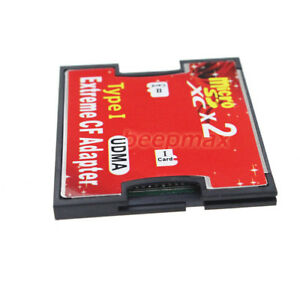 Dual Slot TF Micro SD to Type I CF Reader Compact Flash Card Adapter for Nikon