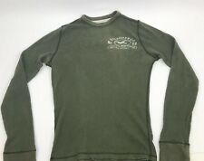 Hollister Jumper Sweatshirt Army Green Crew Neck Small Mens