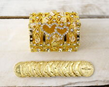 Gold Rhinestone Wedding Arras Box Set Catholic Arras de Boda 13 Arras Coins Gold