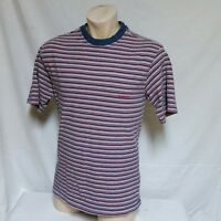 VTG Guess Jeans Striped T Shirt Georges Marciano Tee Bear USA Sport 90s Medium