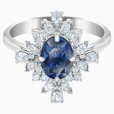 Swarovski Palace Motif Ring Blue Rhodium Plated Size 55 7 Medium M 5498839