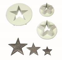 PME Set of 3 S/M/L STAR Plastic Icing Cut Out Cutters Sugarcraft Cake Decorating